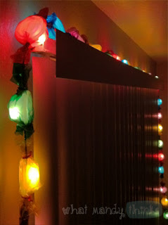 "What Mandy Thinks: Image of my party lights: ""It's not a party without party lights, yo."""