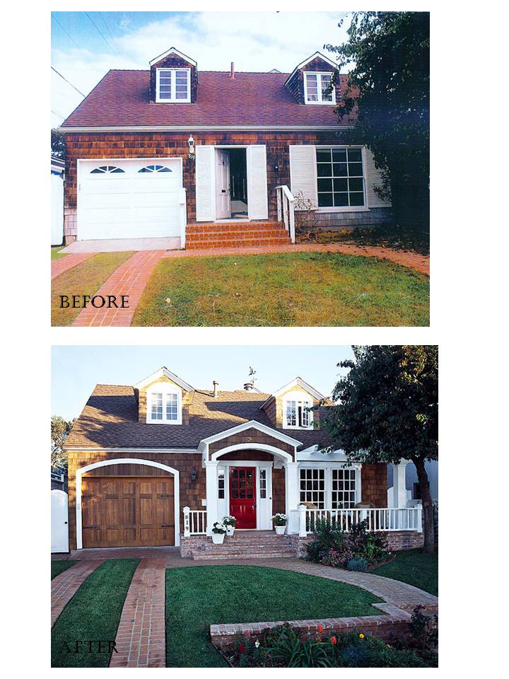 Home remodeling before and after pictures kitchen design for Before and after exterior home makeovers
