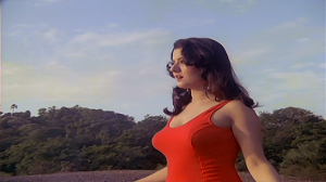 Jasmine in Red swimsuit from Hindi Horror Movie Veerana