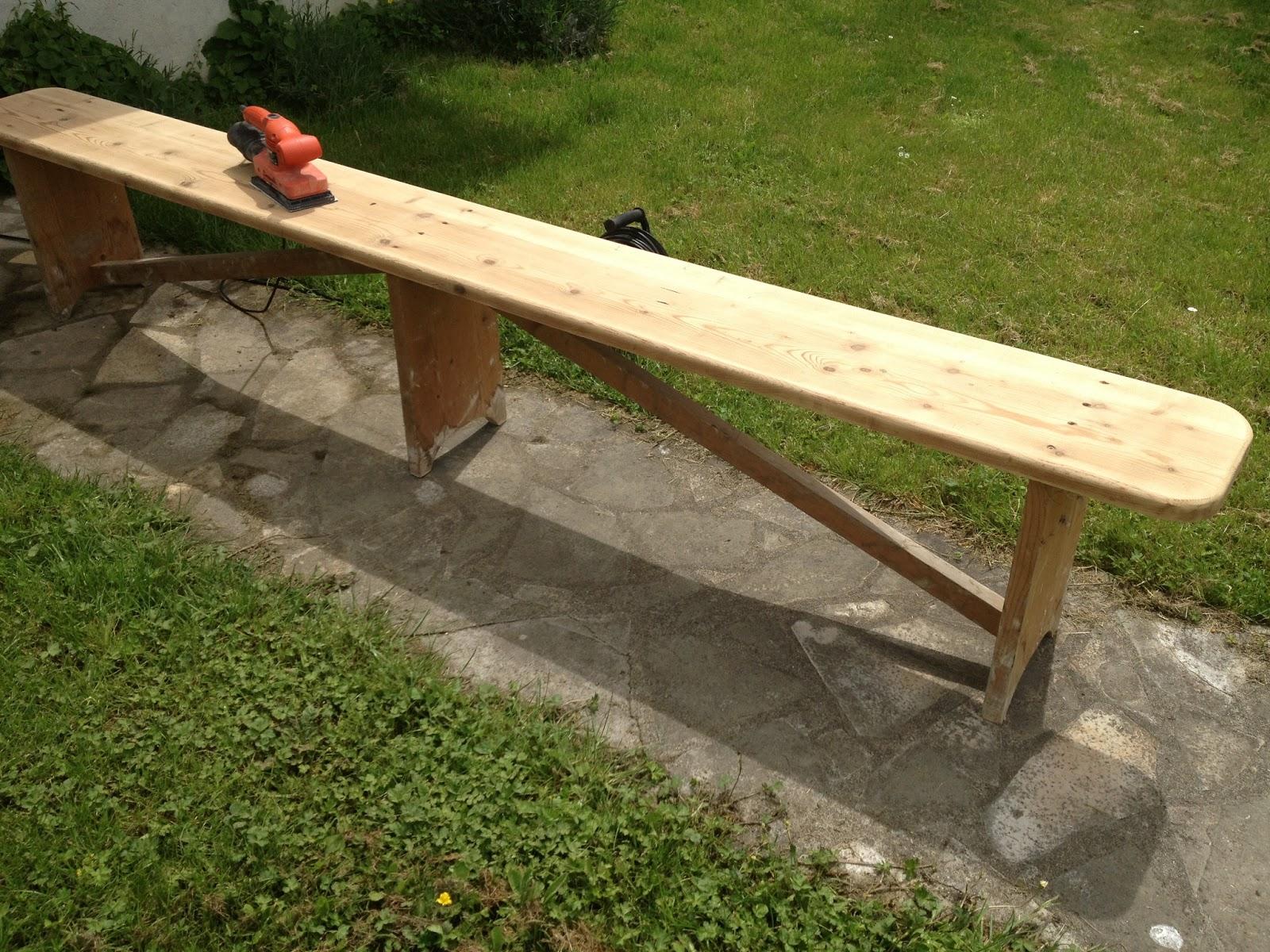 R novation de deux bancs en bois mes r novations de meubles en bois - Renovation de meubles ...