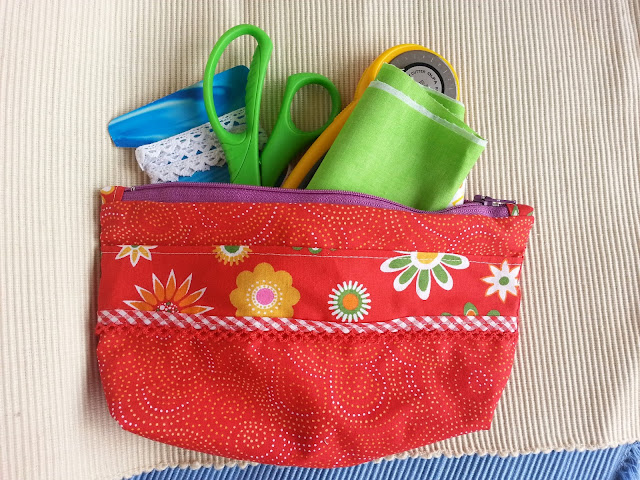 zippered bag.