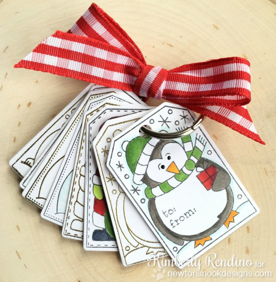 Handmade Christmas tags | Kimpletekreativity.blogspot.com | Newton's Nook