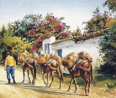 caballos-pintados-en-acuarela