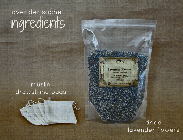 Lavender sachet ingredients