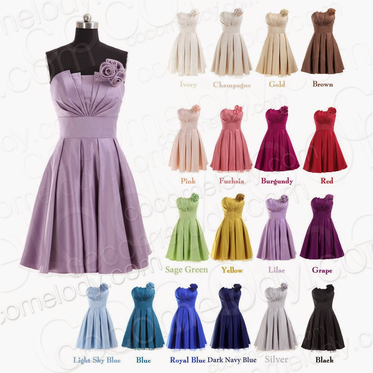 http://www.cocomelody.com/a-line-blue-knee-length-strapless-satin-bridesmaid-dress-cojk13002-18colors-available.html