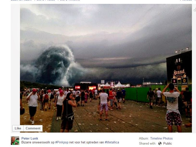 Bizarre Thundercloud at Dutch PinkPop Festival Just Before Metallica Performance