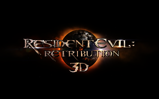Resident Evil Retribution 3D Logo Title HD Wallpaper