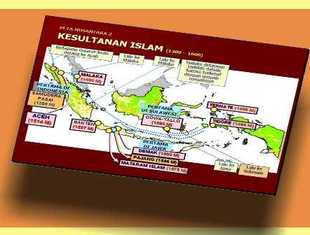 ISLAM , menampilkan secara kronologis kemunculan kerajaan-kerajaan