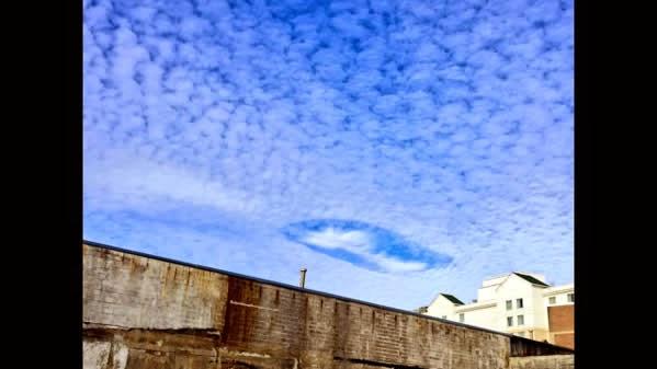 Nuvens perfuradas intrigam moradores americanos