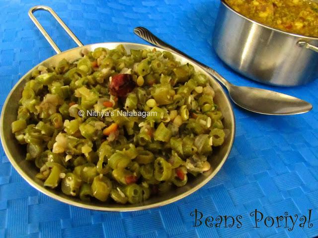 Beans dry vegetable fry
