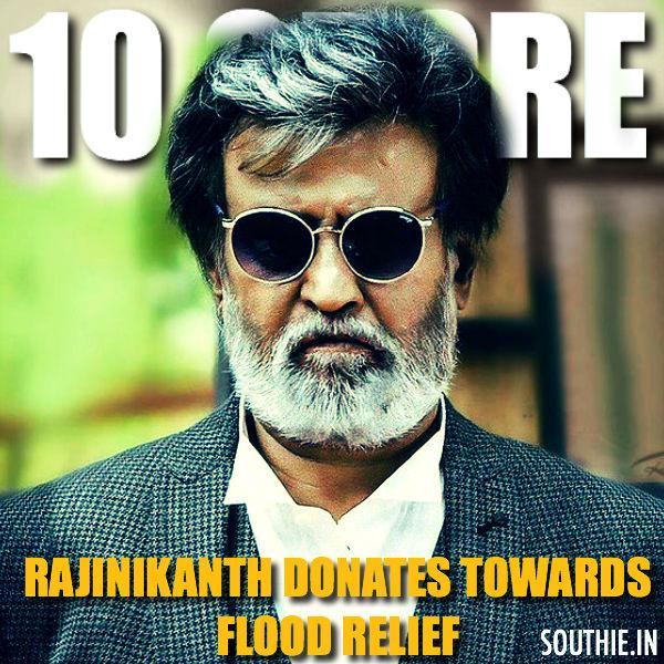 Rajinikanth, Superstar, 10 crores, Chennai Floods, rajinikanth donates, Kabali, Enthiran 2, Shankar, Robo 2,