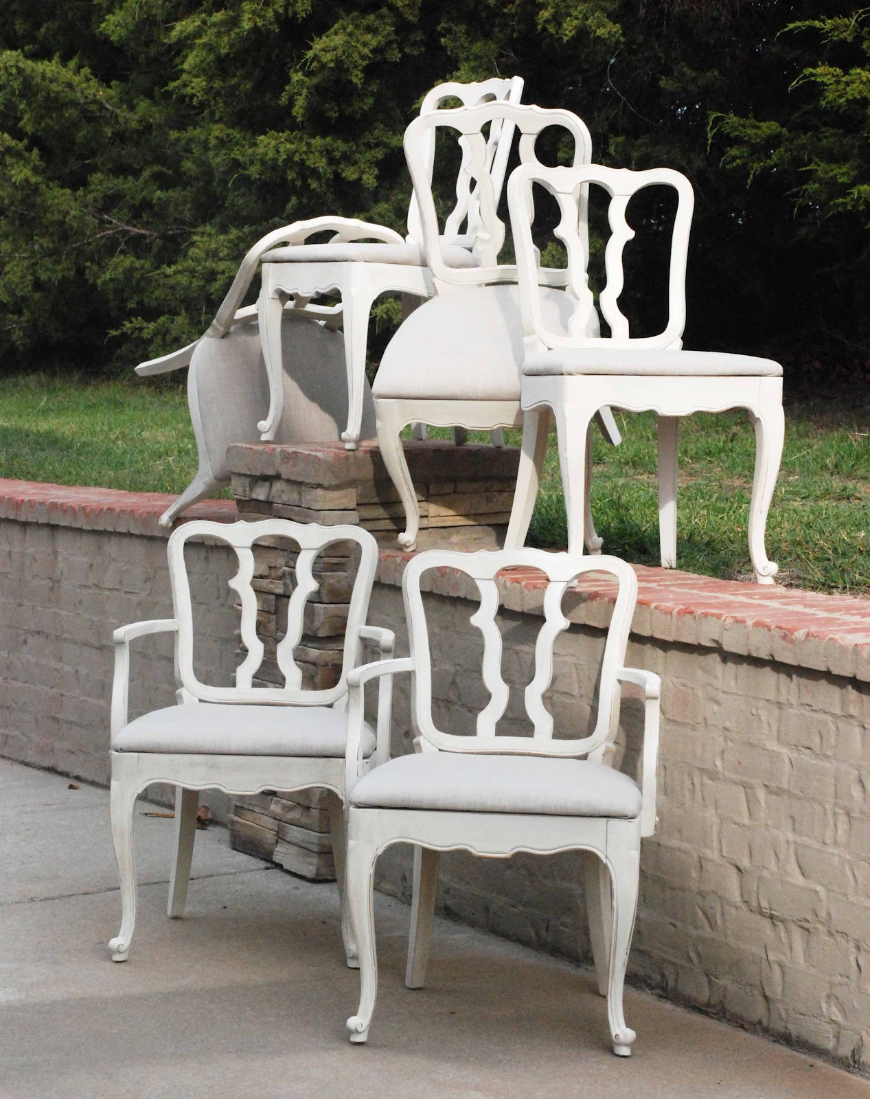 WaterHouse Market: Set of Vintage Cottage-Style Chairs