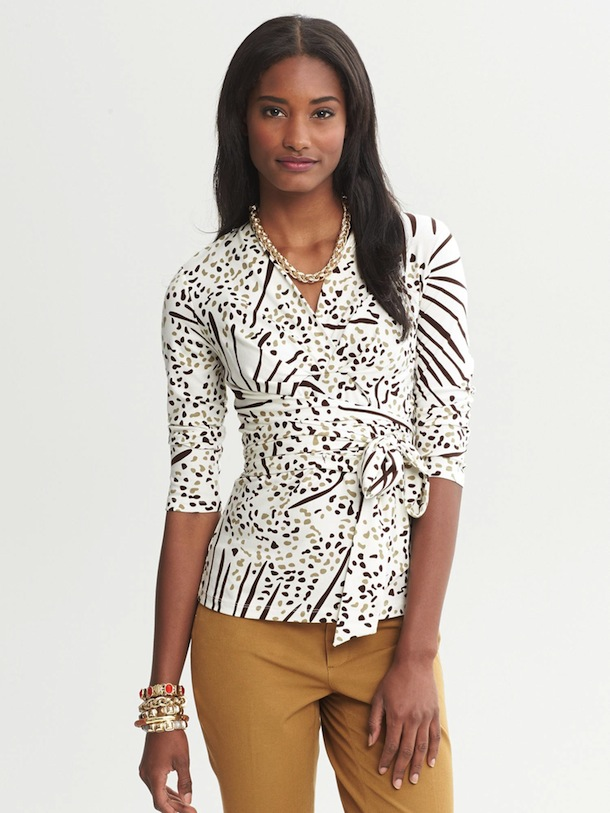 Banana Republic x Issa Wrap Top