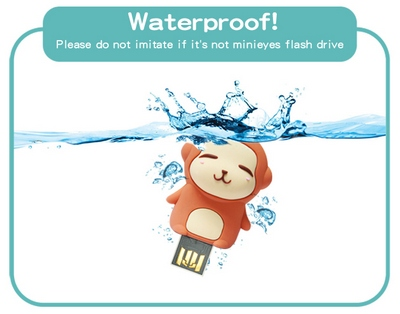 Water proofed USB flash drive