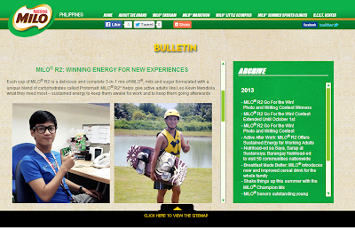 I won Milo R2 Philippines contest with a topic of How to have a work life balance.
