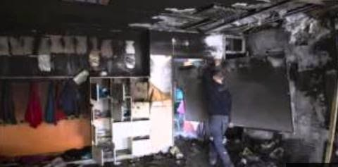Aftermath of arson attack on Jewish-Arab bilingual school in Jerusalem. (Photo screen captured from YouTube video)