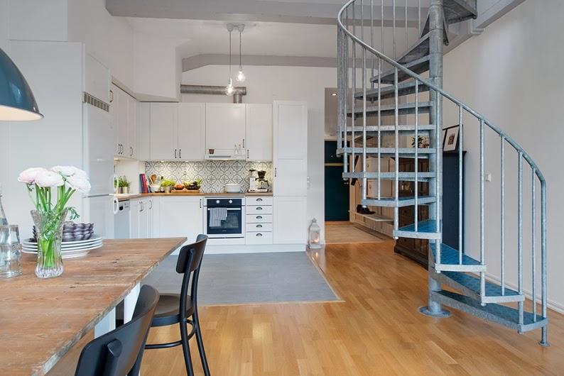 Apartamento duplex de estilo nordico nordic duplex for Escaleras de duplex