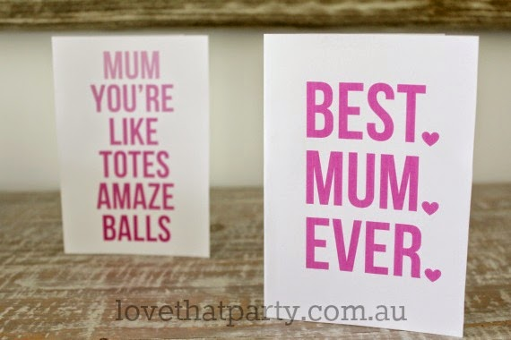 """""""Mum you're like totes amazeballs"""" Free Printable Fun Mother's Day Card #2 by Love That Party. www.lovethatparty.com.au"""