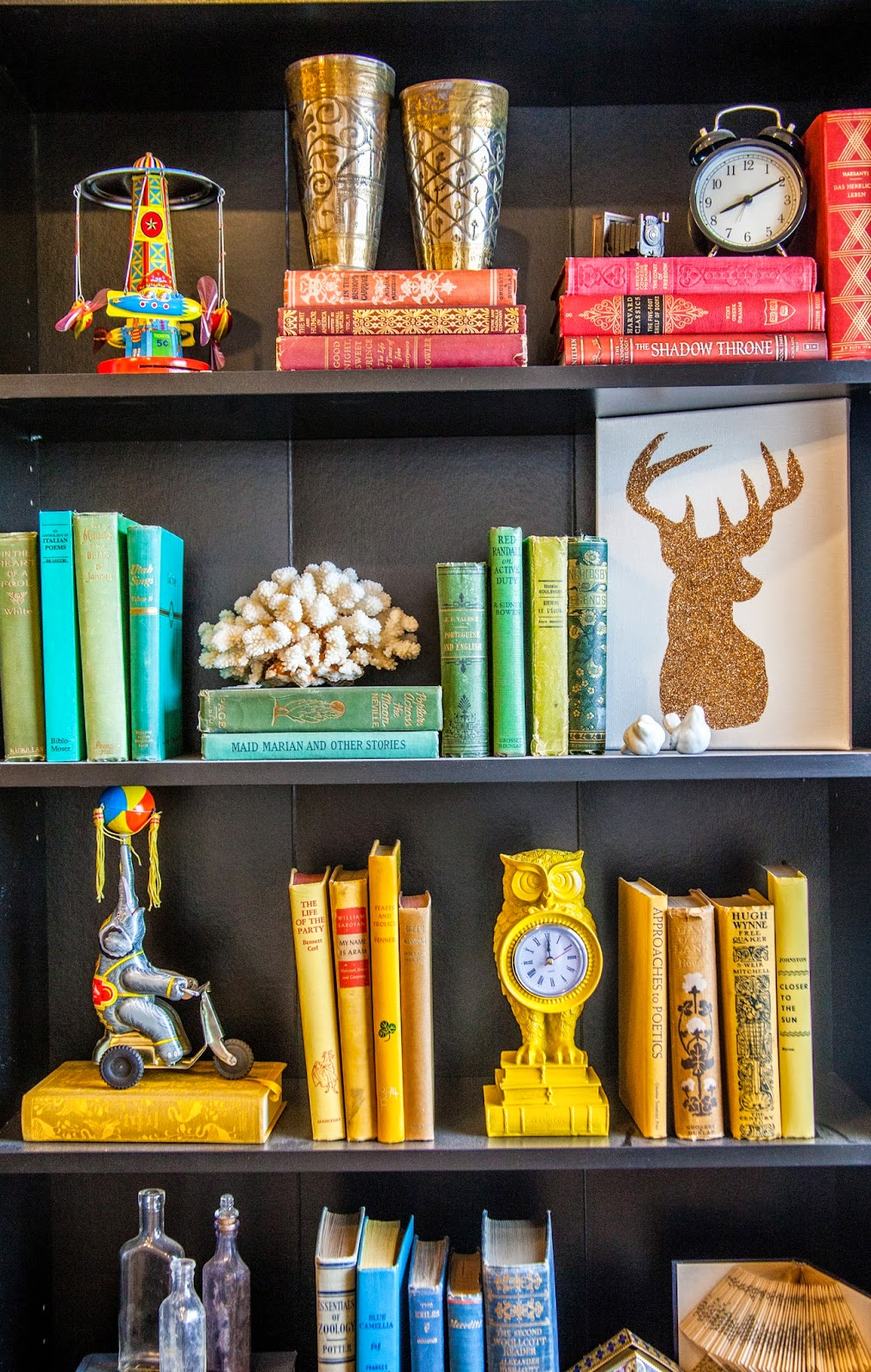 Adding color to your book shelves