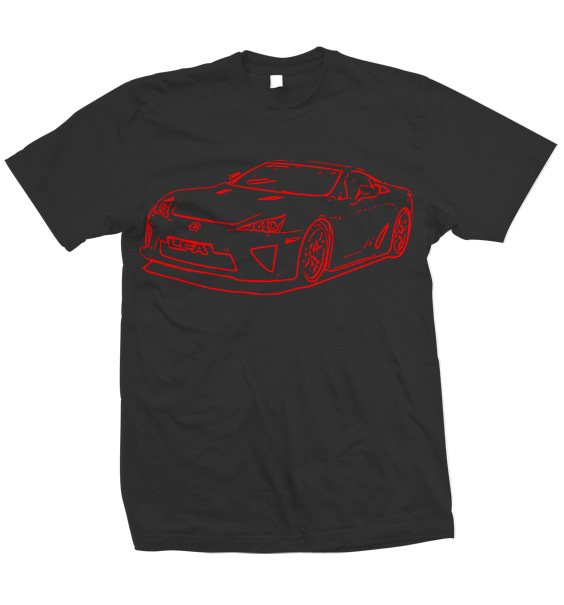 2012 lexus lfa t shirt design ideas
