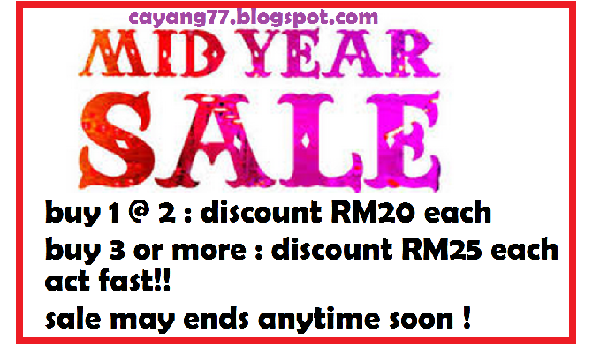 MID YEAR SALE IS ON !