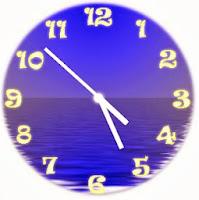 αναλογικό ρολόι στο blog