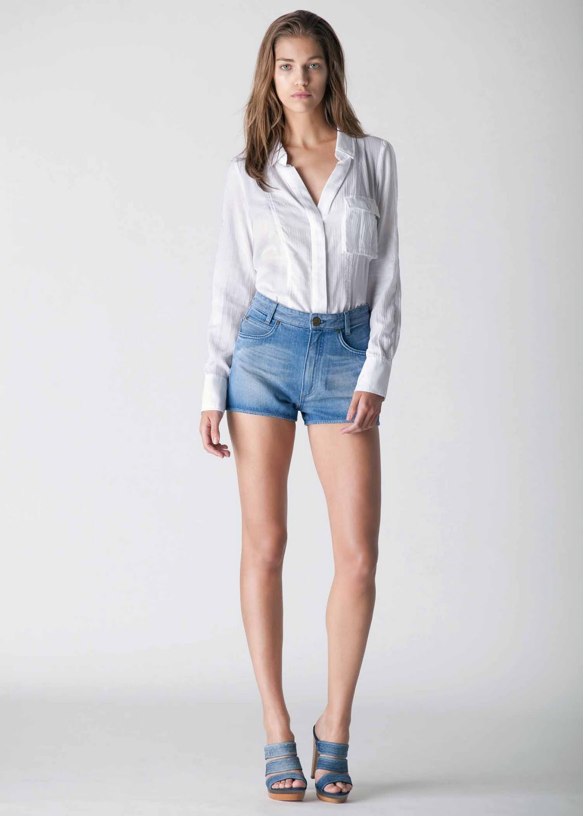 Shirt and jeans for women jeans am for Ladies light denim shirt