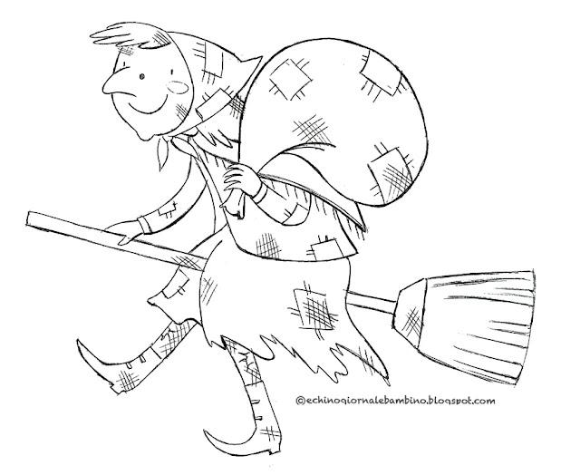 Echino giornale bambino filastrocca della befana di for Befana disegno