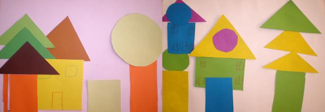 Figuri geometrice - colaj