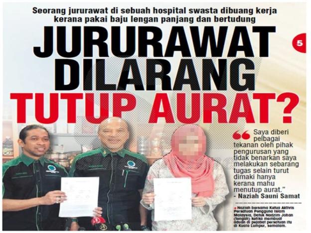 Jururawat Dipecat Kerana Disiplin, Bukan Pakaian - Pihak Hospital