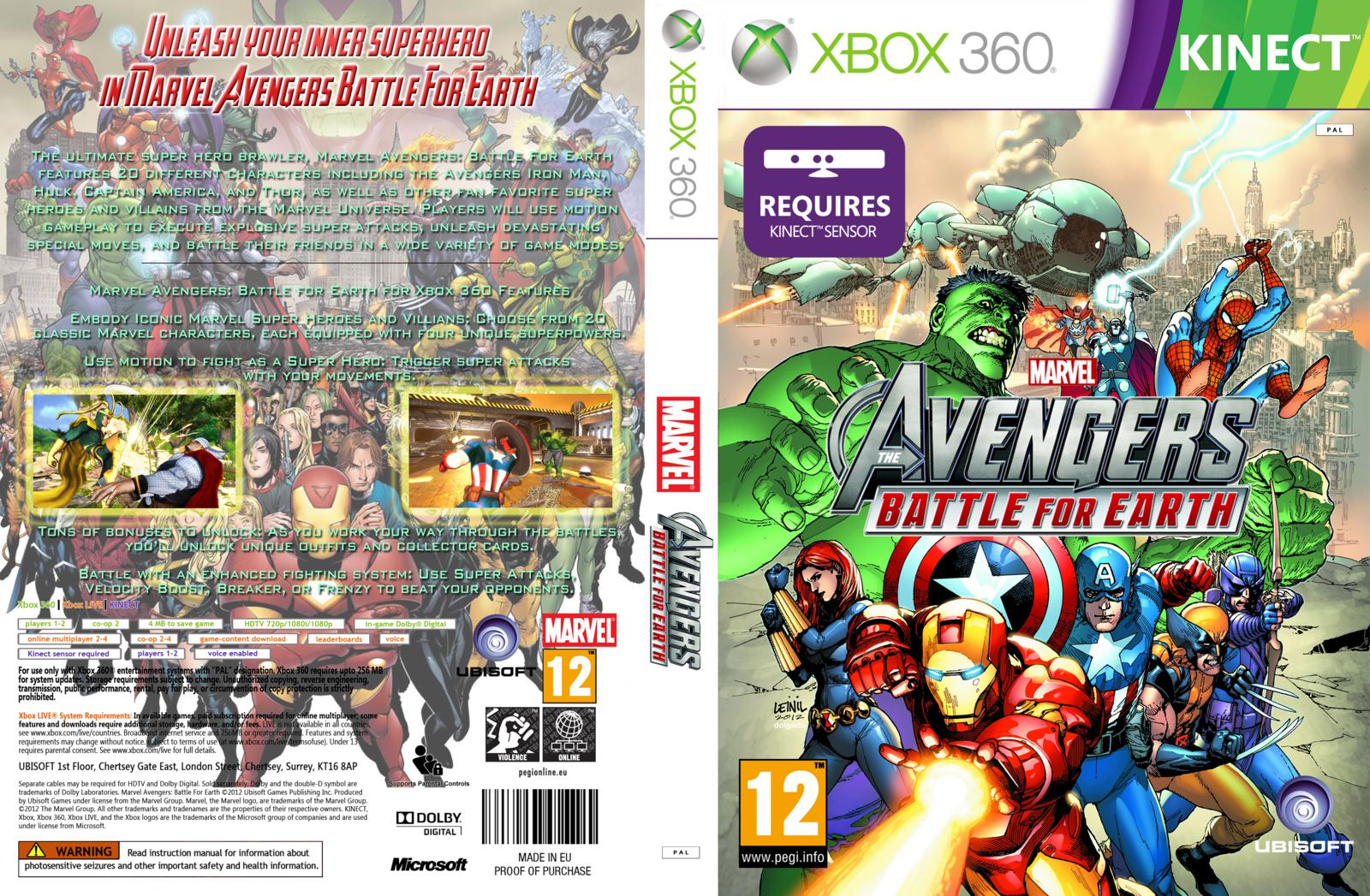 Capa Avengers Battle For Earth Xbox 360