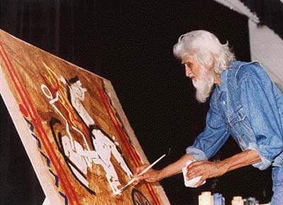 mf hussain profile M f hussain paintings mother teresa | design resource - history of graphic design in india - paintings - 16.