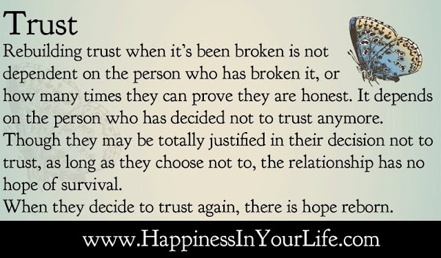 relationship depends on trust quotes