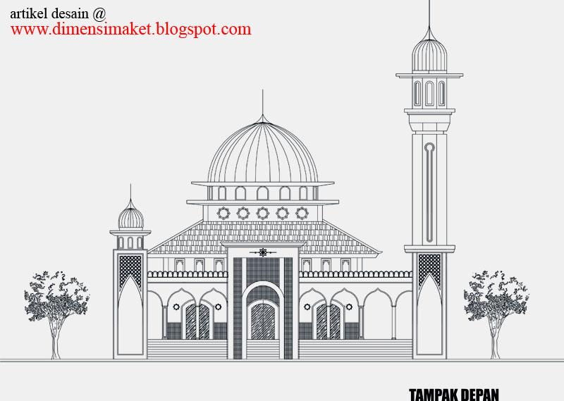 Berikut gambar contoh desain masjid..