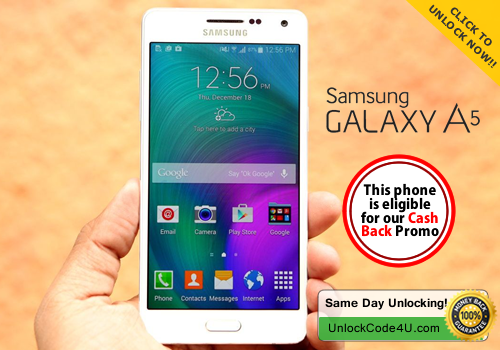 Factory Unlock Code for Samsung Galaxy A5