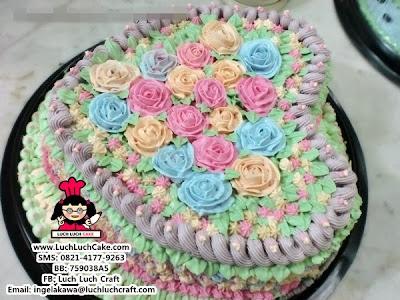Kue Tart Mawar Love Valentine Cantik Daerah Surabaya dan Sidoarjo