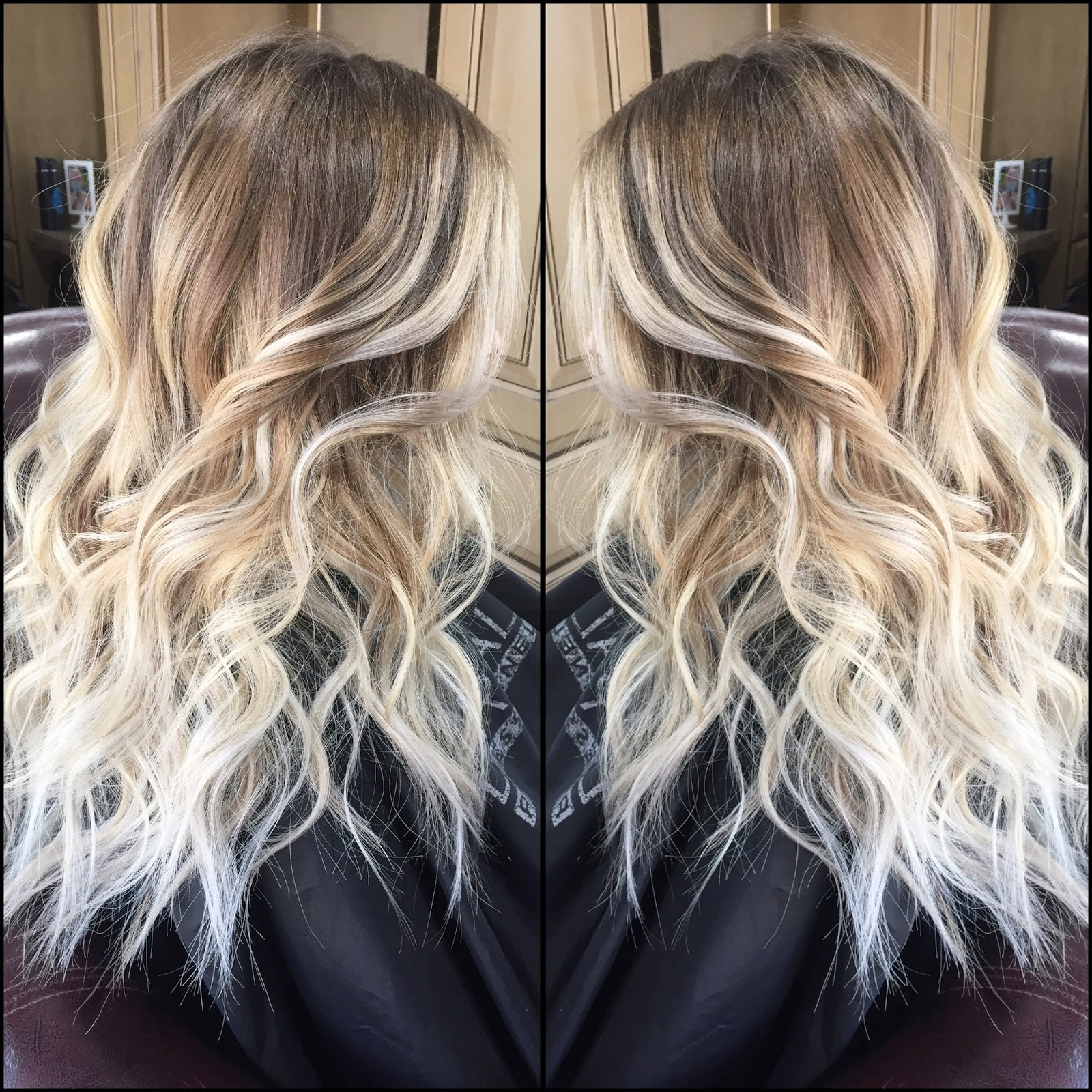pucker up style balayage hand painting