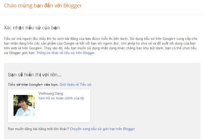 Làm quen với giao diện Blogspot - Welcome