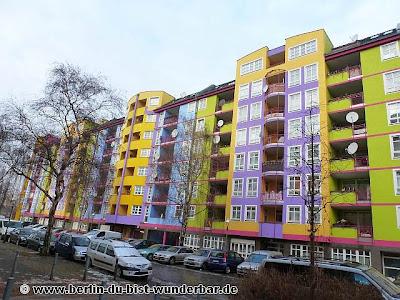 verschiedene bildern, berlin, bunte, Häuser, Gebäude, westhafen