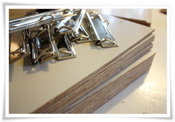 Masonit clipboard pappersklämma