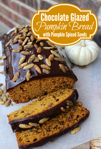 Posed Perfection Chocolate Glazed Pumpkin Bread Treasure Hunt Thursday Link Party From My Front Porch To Yours