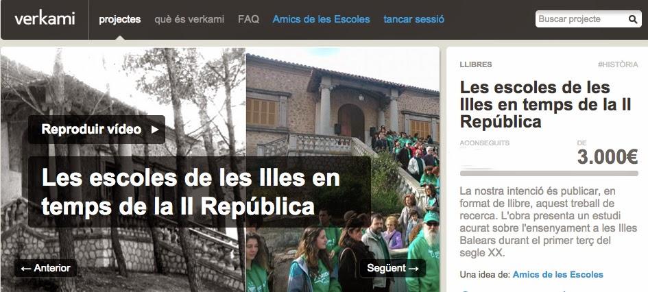 Projecte «Les escoles de les Illes Balears en temps de la II República»