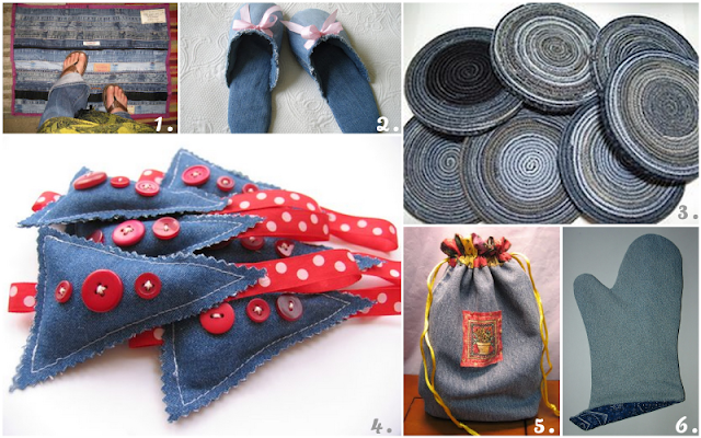 Recycled Denim Jean Projects
