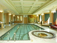 An indoor swimming pool in the Emperor's suite brunei empire hotel