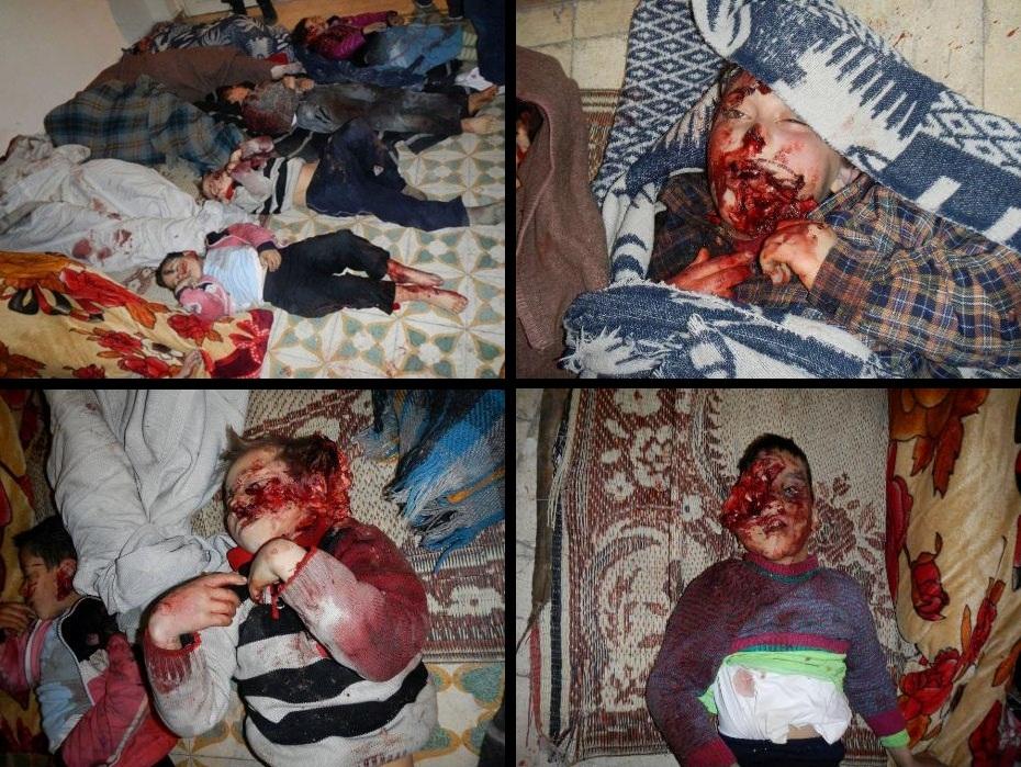 Homs (Siria) 11 de marzo 2012. Niños asesinados por los sicarios de Bashar Al-Assad. Fotos: REUTERS