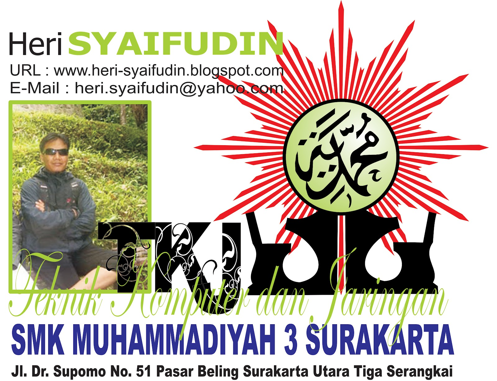 LOGO SMK MUH 3 SKA DAN LOGO MUHAMMADIYAH