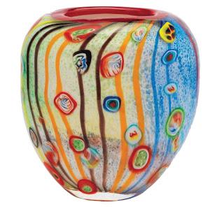 Jarrones de cristal de murano de colores