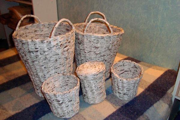 Плетение из бумаги газет и журналов