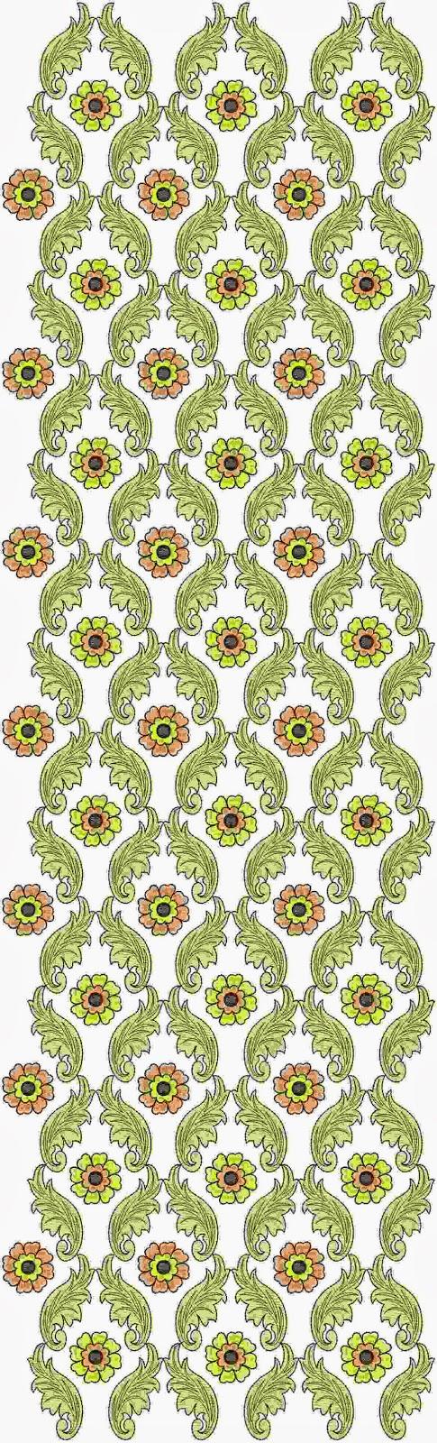 naaldwerk masjien borduurwerk Oral patroon