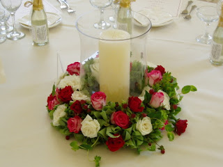 Elegant Homemade Wedding Centerpiece
